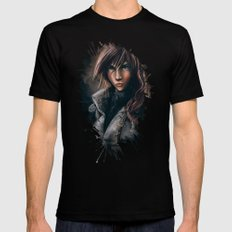 Lightning from Final Fantasy 13 Painting Mens Fitted Tee 2X-LARGE Black