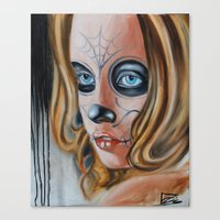 day of the dead Canvas Prints featuring day of the dead by drisd