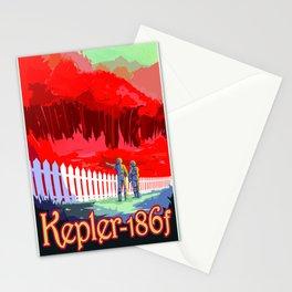 Vintage poster - Kepler-186f Stationery Cards