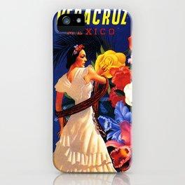Veracruz Travel Poster iPhone Case