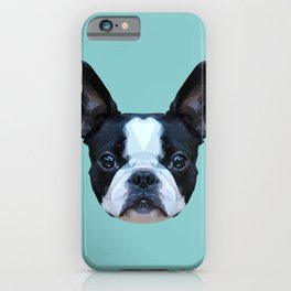 Frenchie / Boston Terrier // Blue iPhone Case
