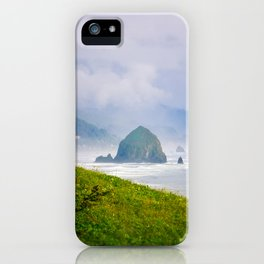 Haystack Rock in Cannon Beach, Oregon from Ecola State Park iPhone Case