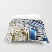 sci fi Duvet Covers featuring Sci-Fi Series 1 by eos vector