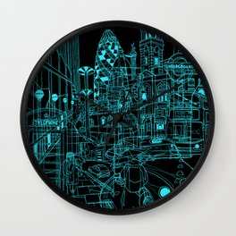London! Night Wall Clock