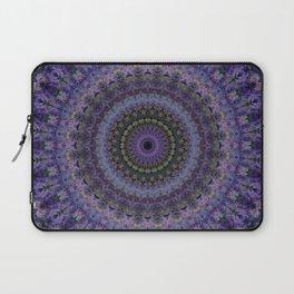 Floral mandala in violet and purple tones Laptop Sleeve