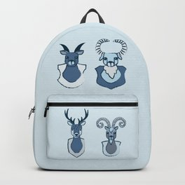 goat and dear heads Backpack