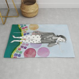 clown and lots of dots Rug