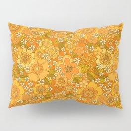 Flower power orange Pillow Sham