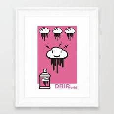 Drip World Pink Framed Art Print