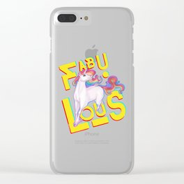 Fab U lous Clear iPhone Case