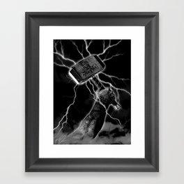 THOR'S HAMMER Framed Art Print