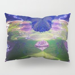 Down by the river blue Pillow Sham