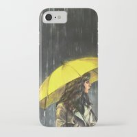 alicexz iPhone & iPod Cases featuring All Upon the Downtown Train by Alice X. Zhang