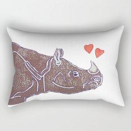 Purple Rhino Rectangular Pillow