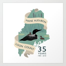 Maine Audubon Loon Count 35 Years Art Print