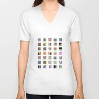 grid V-neck T-shirts featuring Grid by Bram Myers