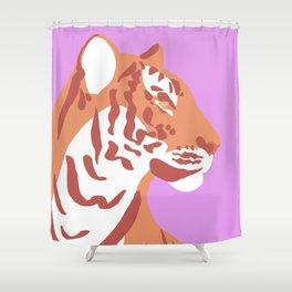 Tiger - Orange Shower Curtain