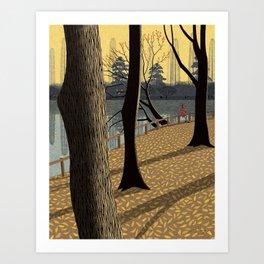 Walk in the twilight Art Print