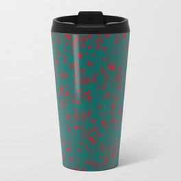 green darkness red spots Travel Mug