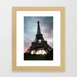 Cotton Candy Sky Eiffel Framed Art Print