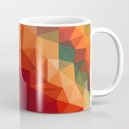 Burnt Jewel Low Poly Coffee Mug