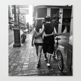 He Loves and She Loves Canvas Print