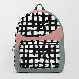 Hand drawn Geometric Line Pattern Backpack