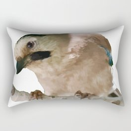 European Jay On Branch Vector Rectangular Pillow