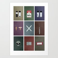 X-Files colors Art Print