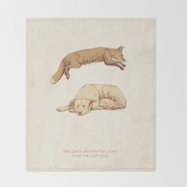 The quick brown fox jumps over the lazy dog Throw Blanket