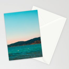 Mountains and Sea at Greece Stationery Cards