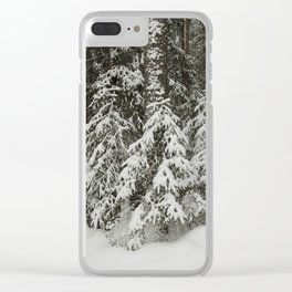 in the taiga forest Clear iPhone Case