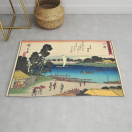 Utagawa Hiroshige - 53 Stations of the Tokaido - Kawasaki Rug