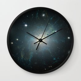 Dusty spiral galaxy Wall Clock