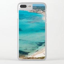 sea landscape Sardinia Clear iPhone Case