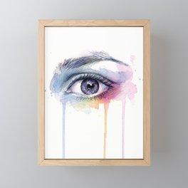 Colorful Eye Dripping Rainbow Framed Mini Art Print