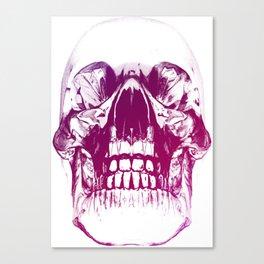 purple crystal skull Canvas Print