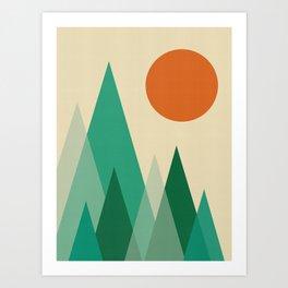 Minimalist Landscape X Art Print