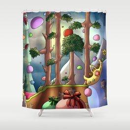 Slime rain- Digital Shower Curtain