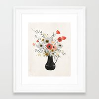poppies Framed Art Prints featuring Poppies by Kelli Murray