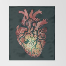 Follow Your Heart Throw Blanket