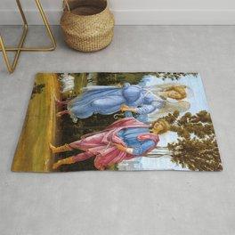 "Filippino Lippi ""Tobias and the angel"" Rug"