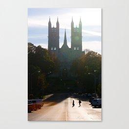 Autumn Silhouette Canvas Print