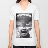 war V-neck T-shirts featuring War by Cash Mattock