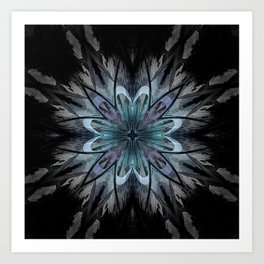 Crystal Blue Mandala Art Print