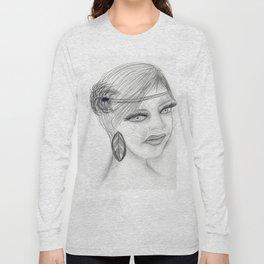 Veiled Deco Girl Long Sleeve T-shirt