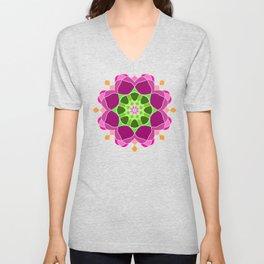 Mandala in crazy colors Unisex V-Neck