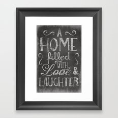 A home with laugh and laughter Framed Art Print