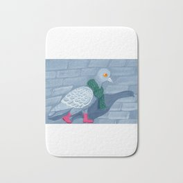 Pigeon in the city Bath Mat