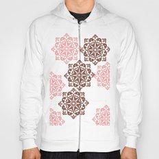 Brown Floral Pattern Hoody